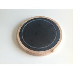 Tablas de madera con plato de pizarra antigoteo